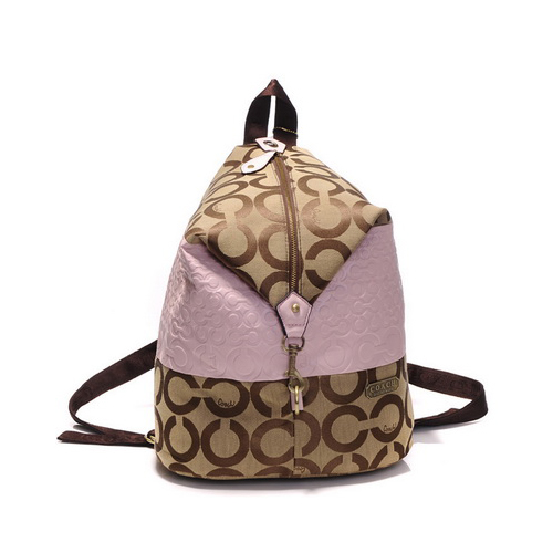 Coach In Monogram Medium Pink Backpacks DHN