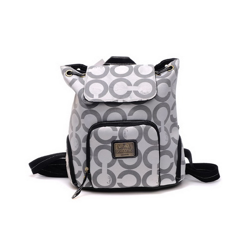 Coach Classic Monogram Medium Grey Backpacks DHO