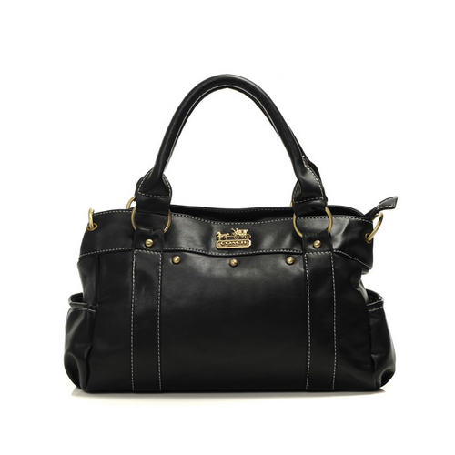 Coach Stud City Medium Black Satchels DHQ