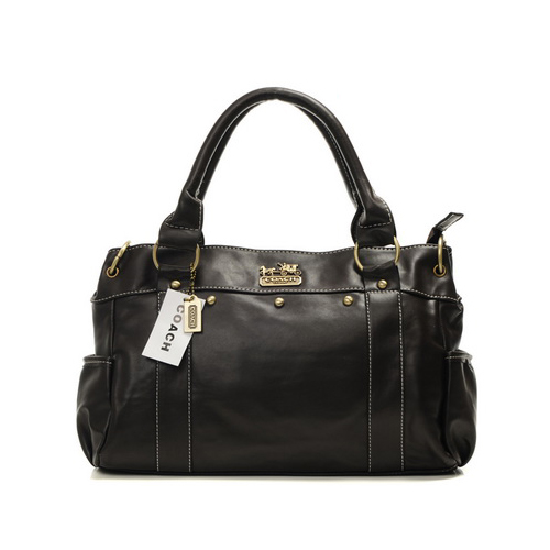 Coach Stud City Medium Coffee Satchels DHR