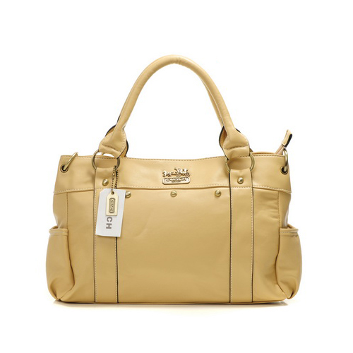 Coach Stud City Medium Ivory Satchels DHU