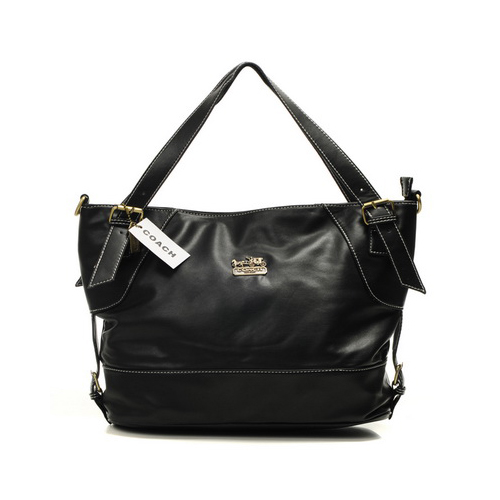 Coach City Medium Black Totes DIA
