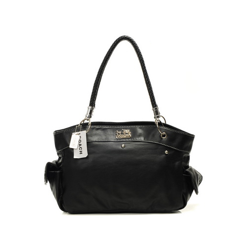 Coach Stud City Medium Black Totes DIP