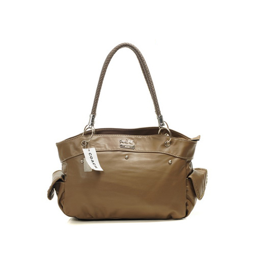 Coach Stud City Medium Brown Totes DIR