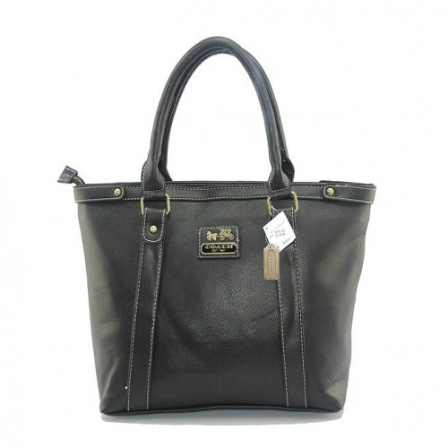 Coach North South Medium Black Totes DIZ