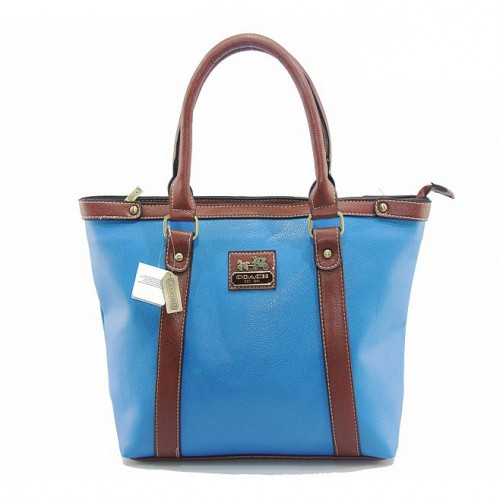 Coach North South Medium Blue Totes DJB