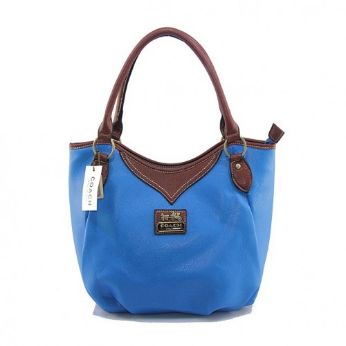 Coach North South Medium Blue Satchels DJG