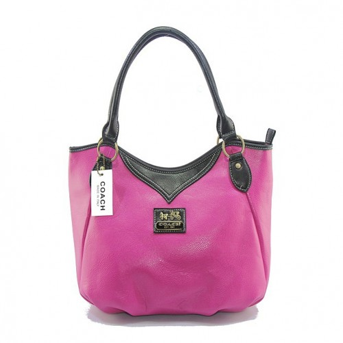 Coach North South Medium Fuchsia Satchels DJH