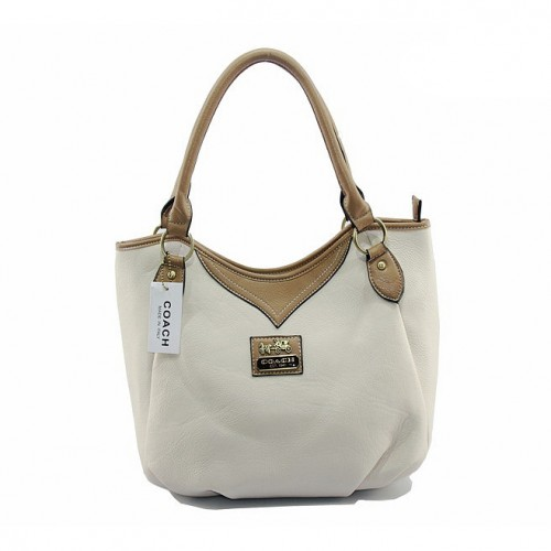 Coach North South Medium White Satchels DJI