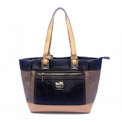 Coach Holiday Logo Medium Navy Totes DJJ