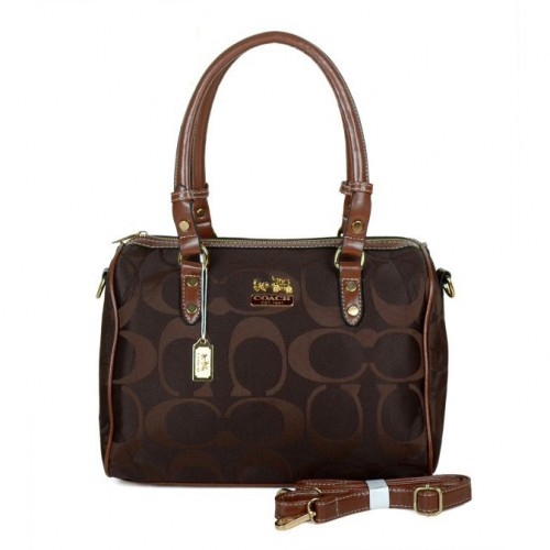 Coach Madison Logo Medium Coffee Luggage Bags DKE