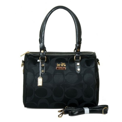 Coach Madison Logo Medium Black Luggage Bags DKF