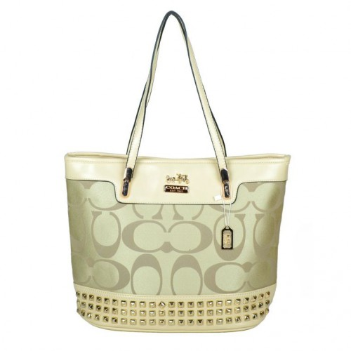 Coach Tanner Stud Medium Apricot Totes DKN