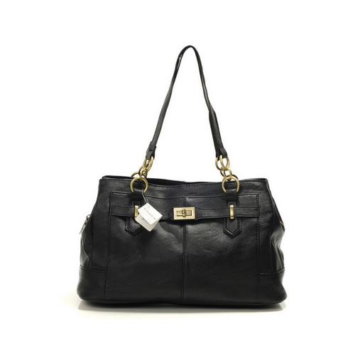 Coach Bleecker Cooper Large Black Satchels DMN