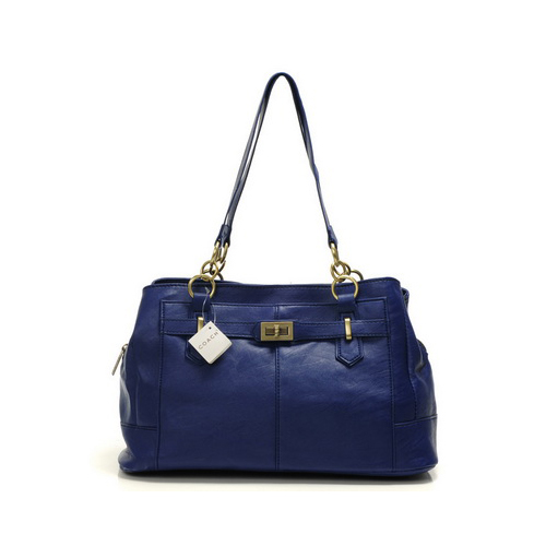 Coach Bleecker Cooper Large Navy Satchels DMQ
