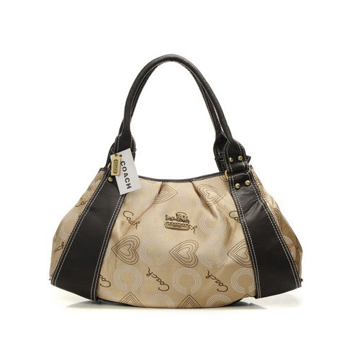 Coach Waverly Logo Large Khaki Satchels DMT