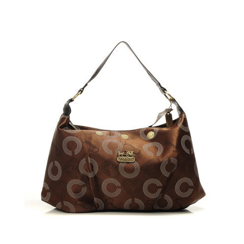 Coach Waverly Logo Large Coffee Shoulder Bags DMV