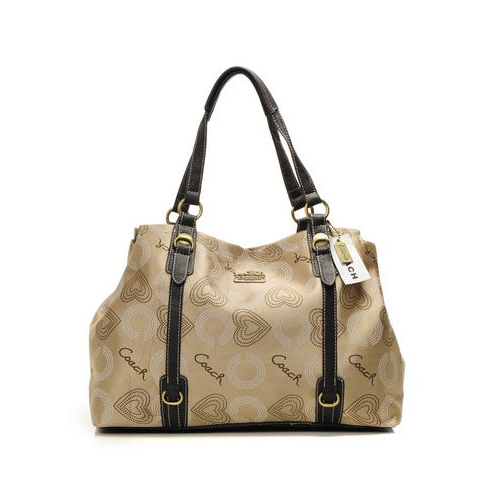 Coach Waverly Logo Large Khaki Totes DMZ