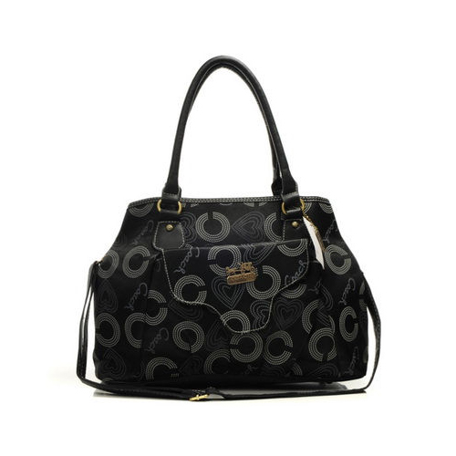 Coach Waverly In Monogram Large Black Totes DNA