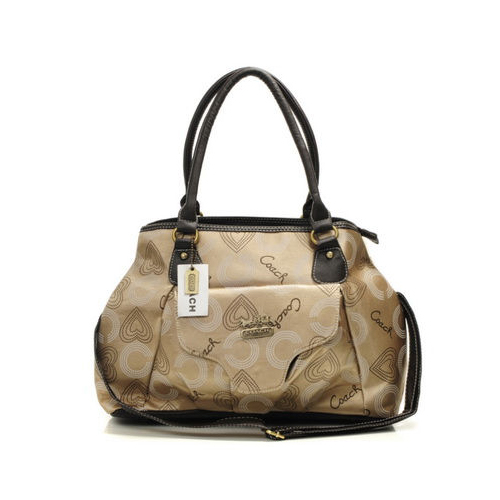 Coach Waverly In Monogram Large Khaki Totes DNC