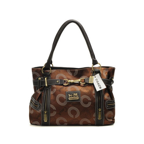 Coach In Monogram Medium Coffee Totes DNE
