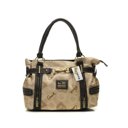 Coach In Monogram Medium Khaki Totes DNF