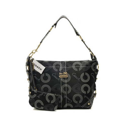 Coach Waverly In Monogram Small Black Shoulder Bags DNM