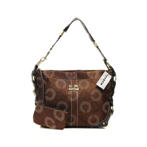 Coach Waverly In Monogram Small Coffee Shoulder Bags DNN