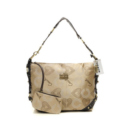 Coach Waverly In Monogram Small Khaki Shoulder Bags DNO