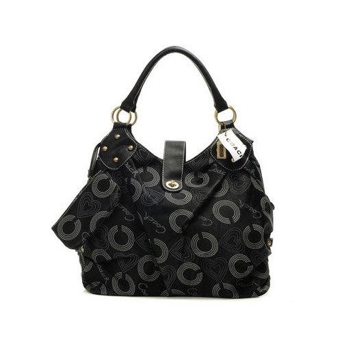 Coach Waverly Logo Medium Black Satchels DNS