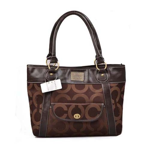 Coach Logo Monogram Large Coffee Totes DOF