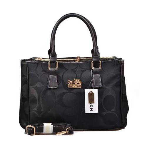 Coach In Signature Medium Black Satchels DOI