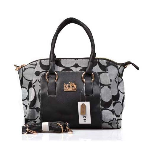 Coach Madison Signature Medium Grey Totes DPB