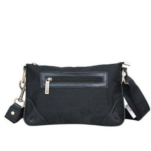 Coach Swingpack Monogram Small Black Crossbody Bags DPP