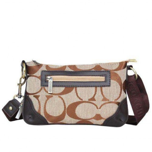 Coach Swingpack Monogram Small Khaki Crossbody Bags DPQ