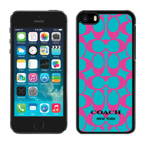 Coach Big Logo Fuchsia Blue iPhone 5C Cases DQN