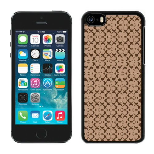 Coach Logo In Signature Camel iPhone 5C Cases DQU