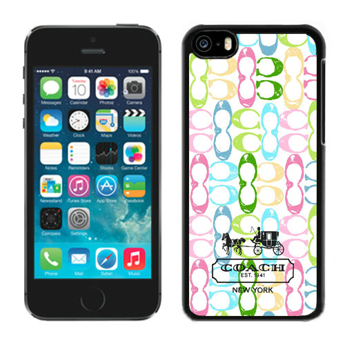 Coach Logo Monogram Multicolor iPhone 5C Cases DQW