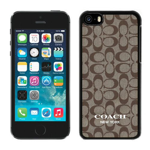 Coach Logo Signature Beige iPhone 5C Cases DRB