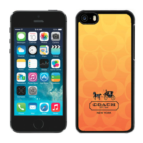 Coach In Signature Orange iPhone 5C Cases DRE