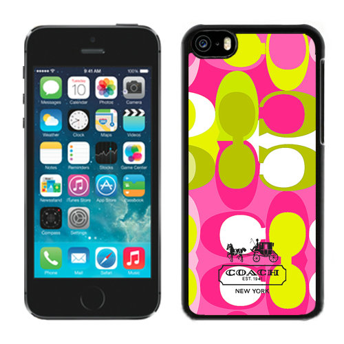 Coach In Signature Multicolor iPhone 5C Cases DRG
