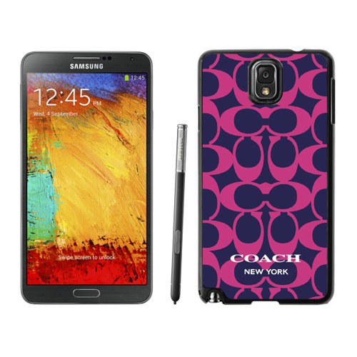 Coach Big Logo Fuchsia Navy Samsung Note 3 Cases DRN
