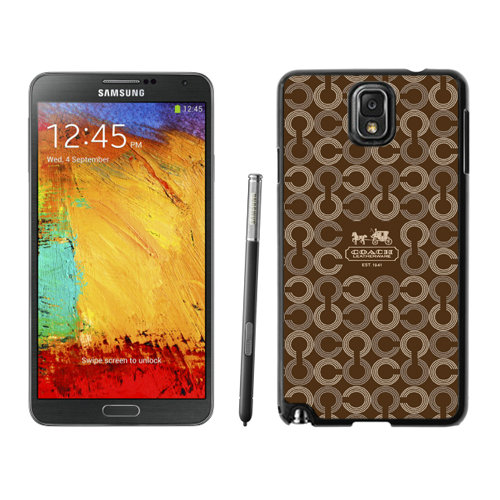 Coach Logo Monogram Brown Samsung Note 3 Cases DRT
