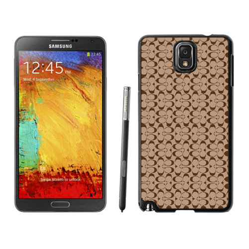 Coach Logo In Signature Camel Samsung Note 3 Cases DRV