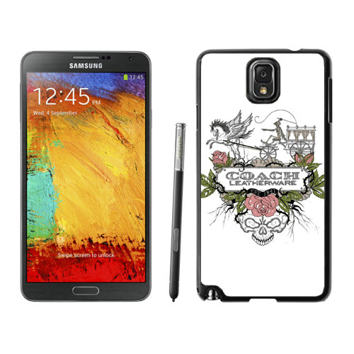 Coach Carriage Logo White Samsung Note 3 Cases DRW