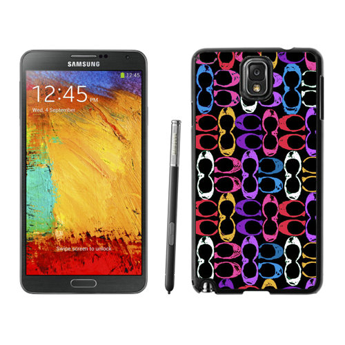 Coach Logo Monogram Multicolor Samsung Note 3 Cases DSA