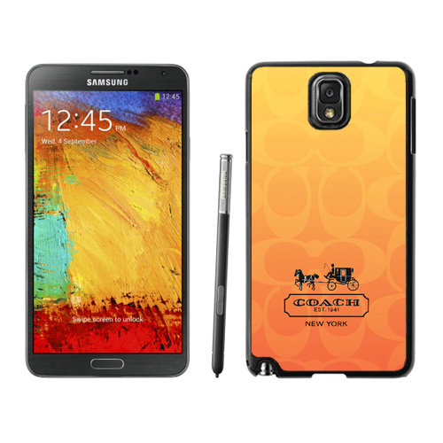 Coach In Signature Orange Samsung Note 3 Cases DSF