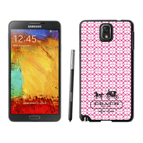 Coach In Confetti Signature Pink Samsung Note 3 Cases DSJ