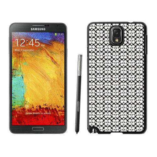Coach In Confetti Signature Black Samsung Note 3 Cases DSK