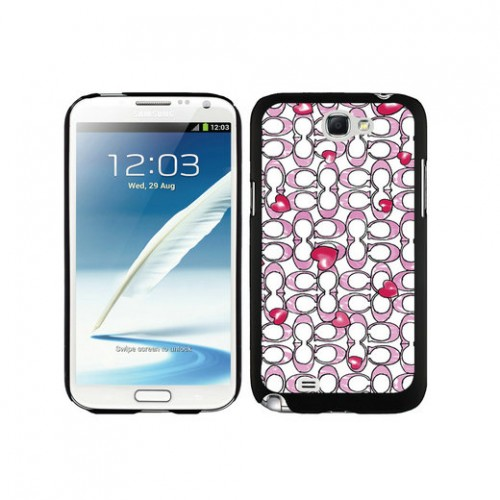 Coach Love Logo Pink Samsung Note 2 Cases DSS